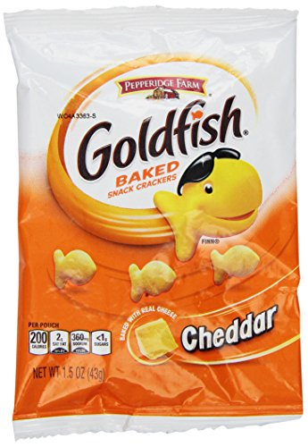 pepperidge farm ゴールドフィッシュ ベイクドチェダークラッカーズ Goldfish スナックパック 24パック(24 x 43g ) 並行輸入品