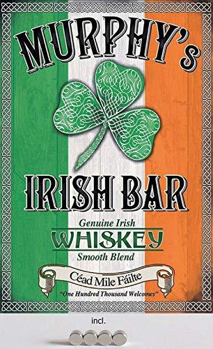 Metalen bord 20 x 30 cm gebogen, incl. Irish Bar Irish Bar Ierse Whiskey Ierland decoratief geschenk bord