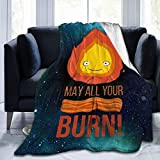 Yestrong Calcifer May All Your Bacon Burn Cozy Bed Blanket Fleece Blankets 50'X40'