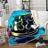 Sunday Printed DJ Marshmallow Blanket Ultra-Soft Microfiber Blanket,Best Gift for Kids 59'x79'