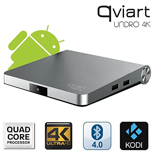 Receptor Satélite Qviart Undro 4K WiFi Android 6.0 DVB-S2 Ultra HD