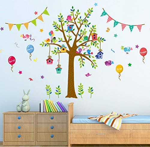 Zwyluck Diy Vogel Party muursticker kinderkamer baby slaapkamer kleuterschool kunst applique ballon boom muurschildering 80 * 140 cm