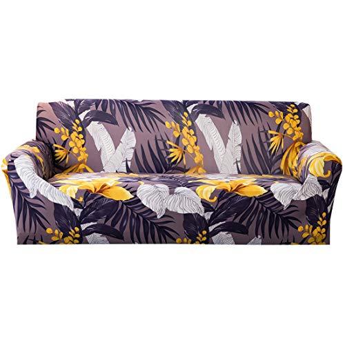 Wenlia Funda elástica Estampada para sofá, Universal Funda Sofa, poliéster y Licra, con Espuma Antideslizante con Fundas de Almohada Protector Suave y cómodo para Muebles de 1, 2, 3, 4 plazas