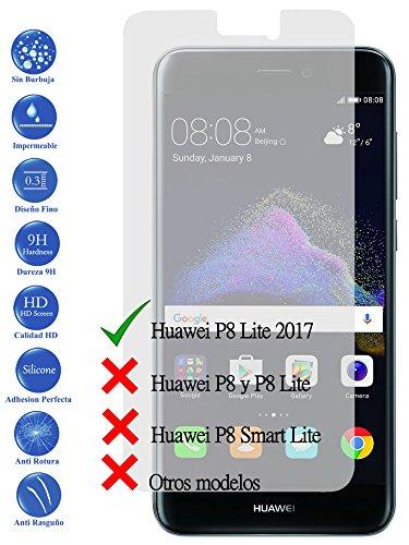 Todotumovil Protector de Pantalla Huawei P8 Lite 2017 de Cristal Templado Vidrio 9H para movil