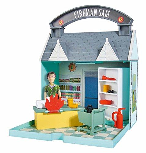 Simba 109251031 - Feuerwehrmann Sam Dily's Supermarkt mit 2 Figuren