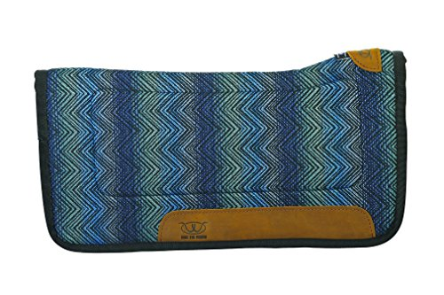 Weaver Leather GettaGrip All Purpose Contoured Saddle Pad, Teal/Green, 32'' l x 32'' w (35-9315-H74)