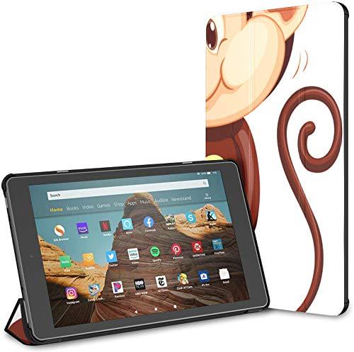 Estuche para Tableta Monkey Hold Yellow Banana Fruit Fire HD 10 (9.a / 7.a generación, versión 2019/2017) Estuche para Tableta Fire HD 10 Estuches para Tableta Auto Wake/Sleep para Tableta de 10.1