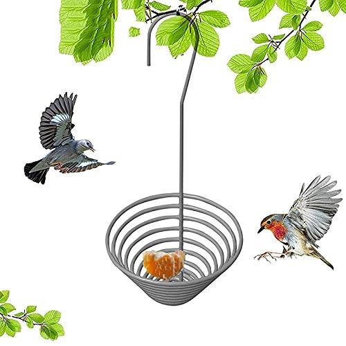 Qagazine Comedero de pájaros al aire libre para colgar en la casa de pájaros Bandeja de metal para pájaros comederos para atraer pájaros al aire libre patios traseros jardín