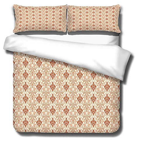 Duvet Cover Set 3 Piece,3D printing Duvet Set Bedding Set for 135 * 200cm Single Bed with 2 Pillowcases.Adult and child's style: Bohemian pattern