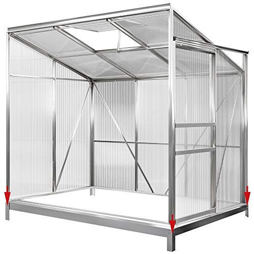 Deuba Fundament verzinkt 190x122 cm Stahlfundament Gewächshaus Treibhaus Rahmen inkl. Montagematerial