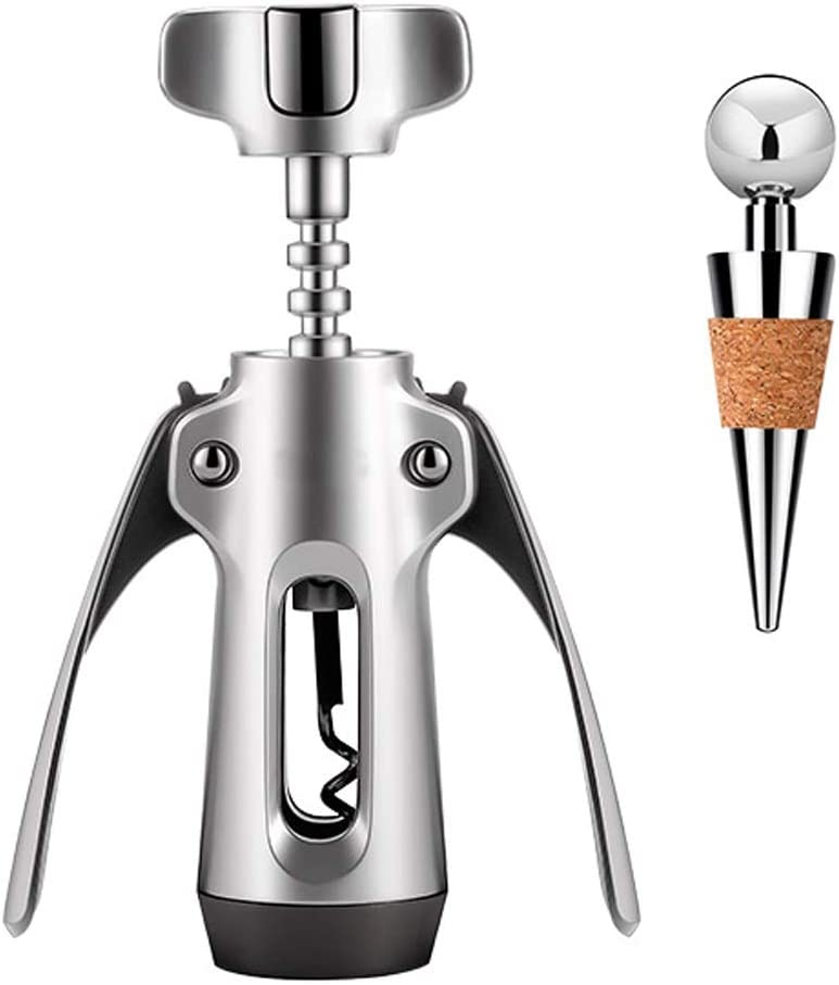 CXJJ Special price for wholesale a limited time Manual Wine Opener Zinc Alloy With W Stopper Corkscrew Wing