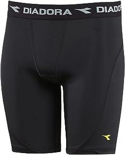 Diadora Thermal Compression Lite Junior Kids Boys Skins Shorts Black
