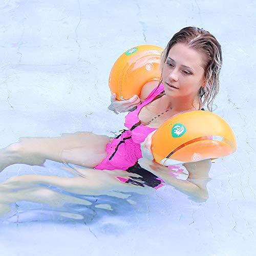FYQF Bandas Inflable de la Nadada del Brazo, Natación Anillo Piscina, flotación Mangas Alas de Natación en Aguas Brazo flotadores, Juguetes al Aire Libre para Adultos y niños de los niños