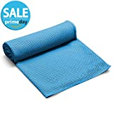 FITVC Neck Cooling Towel Evaporative Fast Instant Cool Towels Cooling Neck Wrap Ice Towel Scarf Bandana Neck Coolers for Sports Yoga Athletes Gym Fitness (Blue)