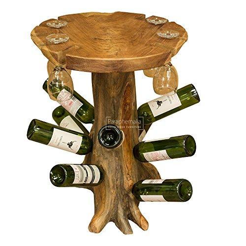 CATA de vinos de Madera de raíz de Teca Maciza Mesa–Mesa de Teca...