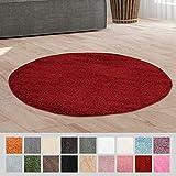 Taracarpet Hochflor Langflor Shaggy Teppich geeignet für Wohnzimmer Kinderzimmer und Schlafzimmer flauschig und pflegeleicht schwarz 080x150 cm