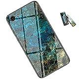 iPhone se2(第二世代), iPhone 7, iPhone 8 兼用ケース 大理石柄 全面保護カバー レンズ保護 全面保護 薄型 傷防止 薄型(Univo Color) あいふぉん 専用カバー (15,翡翠ブルー)