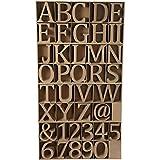 Holzbuchstaben, Zahlen und Schilder, H: 8 cm, MDF, inkl. gratis Holzdisplay 240 Stück