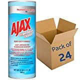 AJAX-14278 Professional Oxygen Bleach Powder Cleanser, Heavy Duty, Bulk Cleaner 21oz Can (Case of 24)