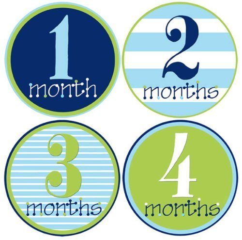 Mumsy Goose Popularity Baby Boy Monthly S Bodysuit 1-12 Months Department store Stickers