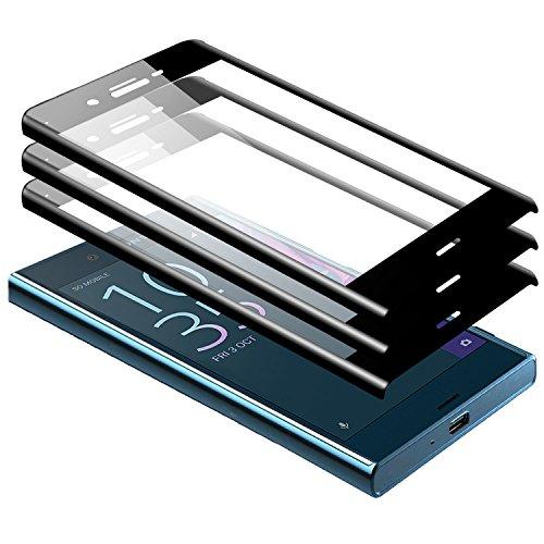 2 Piezas Protector Pantalla Sony Xperia XA1 Ultra Vidrio Cristal Templado 3D   9H Dureza Anti-rasgu/ños Zanasta Cobertura Completa Screen Protection Glass Negro