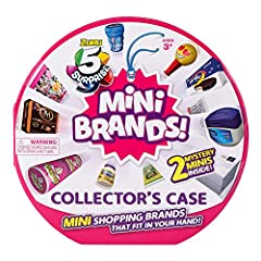 5 SURPRISE MINI BRANDS: enjoy the thrill of unboxing as you unwrap, peel and reveal 5 Miniature replicas of your favorite household brands. SO MANY TO COLLECT: Store and display up to 30 of your favorite Mini Brands, The most iconic brands made mini!...