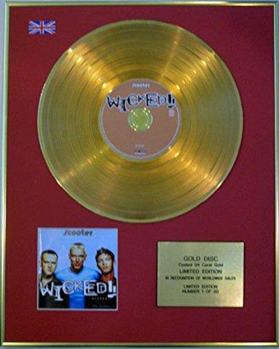SCOOTER - Edición limitada CD 24 quilates de oro recubierto disco - inicuos!