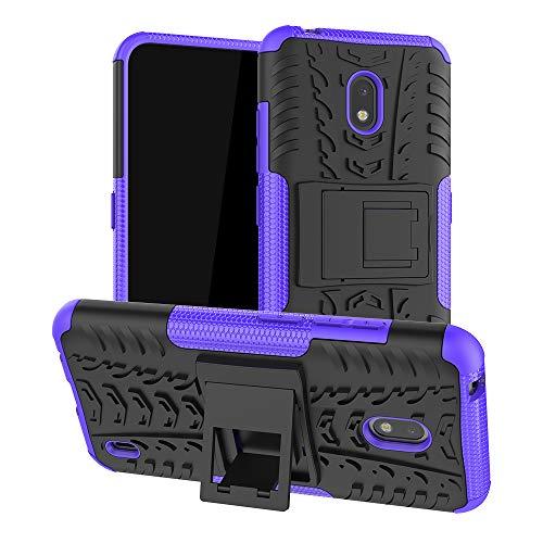 LFDZ Nokia 2.2 2019 Hülle,Abdeckung Cover schutzhülle Tough Strong Rugged Shock Proof Heavy Duty Hülle Für Nokia 2.2 2019 (Not fit Other Models),Violett