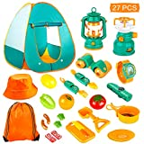 KAQINU 27 PCS Kids Camping Set, Pop Up Play Tent with Kids Camping Gear Toys, Indoor and Outdoor...