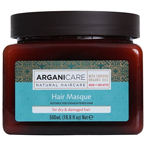 Arganicare Restoring Hair Masque for Dry and Damaged Hair Enriched with Organic Argan Oil and Shea Butter(16.9 Fluid Ounce)