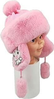 Winter Pelt Rex Rabbit Fur Bomber Hats Kids Cute Earmuff Hat