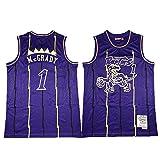 BXWA-Sports Camiseta de Baloncesto Masculino, Raptors NBA #1 Tracy McGrady Baloncesto Ropa cómoda/Malla/Enfriar Bordado Baloncesto Retro sin Mangas Jerseys,XL