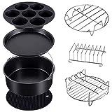 Varadyle Air Fryer Accessories - Juego de 7 accesorios para cocinar al vapor y freidora de aire compatible con Ninja Foodi 5 y 6,5 y 8 Qt OP101, OP301, OP302