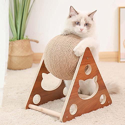 Giocattolo interattivo per gatti in legno massiccio tiragraffi in legno massiccio per gatti rettifica artigli e proteggere mobili