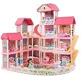 Ejoyous Casa de Muñecas para Niños de 4 Pisos, Casa de Muñecas Juguetes para Niñas Casa de Muñecas Juguetes para Niños para Habitación y Dormitorio de Niños para Niñas y Niños