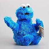 XIAOM 31cm sésame Rue Peluche Jouets Elmo Biscuit Monstre Peluche Peluches Mignon Dessin animé Animal Doux Peluche pour Enfants Cadeaux d'anniversaire (Color : Blue)