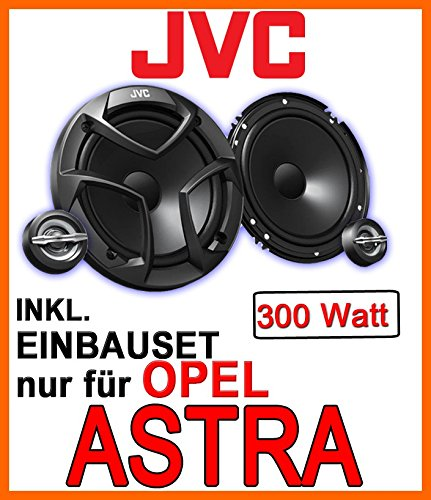 JVC CS-JS600-16cm Lautsprecher Einbauset für Opel Astra F,G,H - JUST SOUND best choice for caraudio