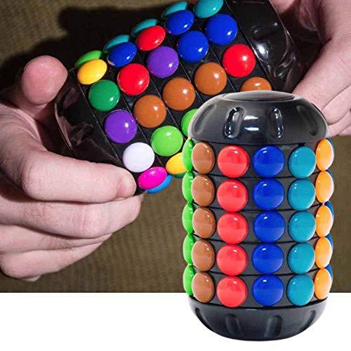 Babylon Tower, Brain Teaser Botón para Doblar la Mente Juguete Deslizante Giratorio, Cilindro Rubiks Cube Rubik Tower Juguete de descompresión de Inteligencia Creativa