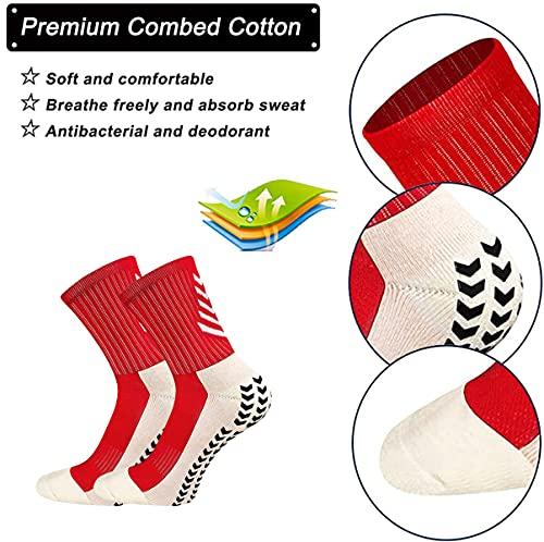 VCTINA Calcetines deportivos deportivos antideslizantes unisex profesionales, calcetines de fútbol, calcetines de agarre para fútbol, baloncesto, correr, ciclismo, senderismo