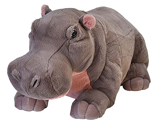 Wild Republic Jumbo Hippo Plush, Giant Stuffed Animal, 30 Inches Long