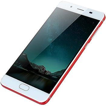 """Cobcob Teléfono Celular con visualización táctil, 2019 Nuevo Desbloqueado 5.7"""" HD Android 5.1 Quad-Core 512MB+4GB gsm 3G WiFi Dual SIM Smartphone (versión Internacional), Rojo"""