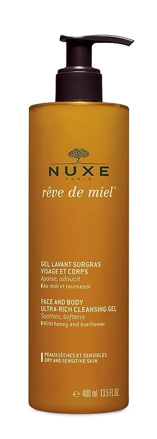 NUXE Rêve de Miel Face and Body Ultra Rich Cleansing Gel, 13.5 Fl oz