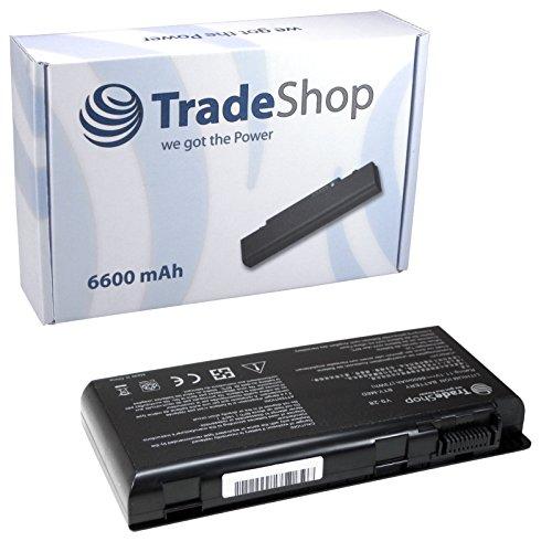 TradeShop Hochleistungs Li-Ion Akku, 10,8V/11,1V / 6600mAh für Medion Erazer 6811 X6813 X6817 X6819 X6821 X7813 X7815 X7817 MD97623 MD97624 MD97625 MD97654 MD97746 MD97747 MD97748 MD97761 MD97762 MD97779 MD97781 MD97782 MD97783 MD97831 ersetzt BTY-M6D