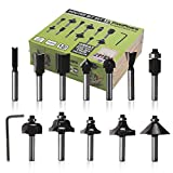 FivePears Router Bit Set-12 Piece Router Bits with 1/4-Inch Shank and Wood Storage Box,Woodworking Tools for Home Improvement and DIY Wood