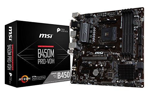 MSI ProSeries AMD Ryzen 1st and 2nd Gen AM4 M.2 USB 3 DDR4 D-Sub DVI HDMI Micro-ATX Motherboard