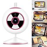 Pbzydu Cámara de seguridad para el hogar, 1080P WiFi CCTV Full Color Noche Seguro Interior Interior Monitor Mini Seguridad IP Cámara 100-240V (enchufe de Reino Unido)