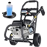 TEANDE 4200PSI Gas Pressure Washer Power Washer 2.8GPM 212CC Gas Powered Pressure Washer, High-Pressure Hose 5 Nozzles (Black)