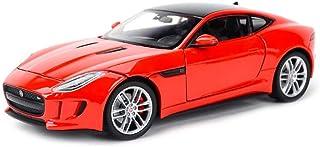 Gflyme Car Model Car Model Car 1,24 Jaguar F-Type Car Simulation Alloy Die-Casting Toy Ornaments Sports Car Collection Jewelry 19x9x5.5CM (Color, Red),Orange (Color : Red, Size : One Size)