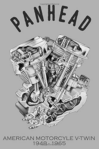 Panhead American Motorcycle V-Twin 1948-1965: Dot Grid Journal, 100 pages