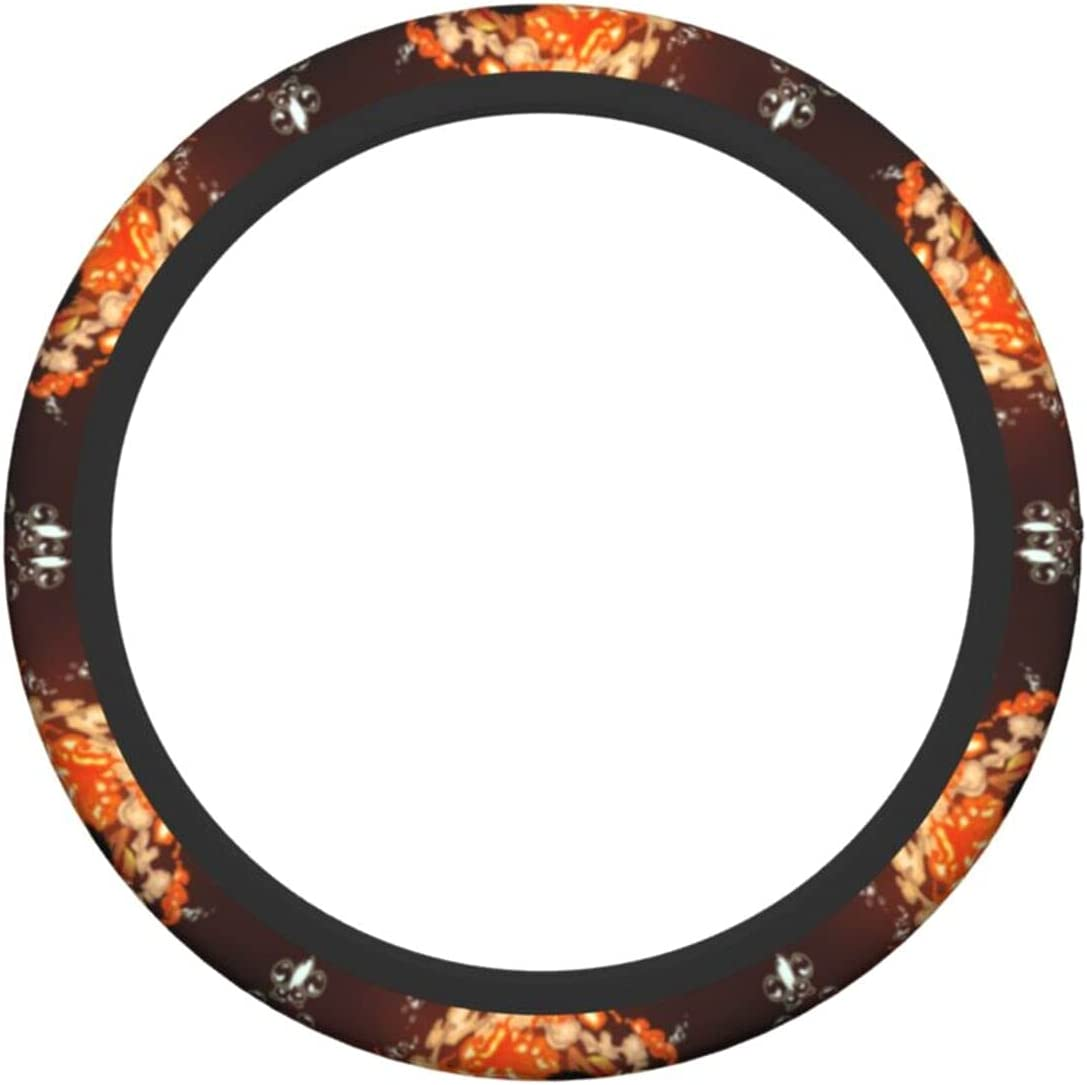 Feiyaodeng Steering Wheel Cover Women Man Anti Max 71% Year-end gift OFF 15 Universal inch